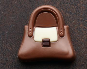 A small chocolate purse