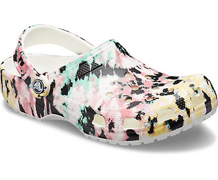 Pastel abstract pattern Croc shoes
