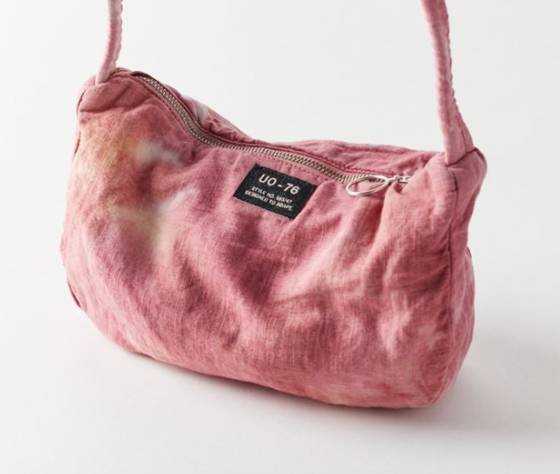 a cloth pink tie dye bag