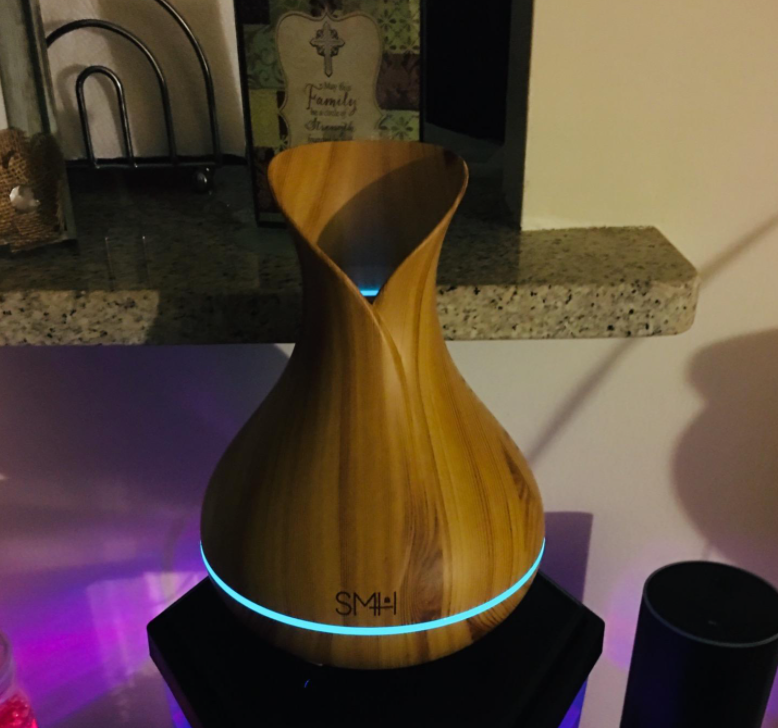the diffuser in a reviewer's home