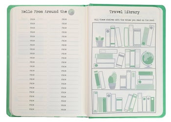 inside of the book to show travel library
