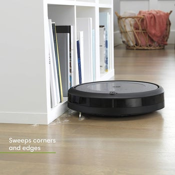 The robot vacuum with the words