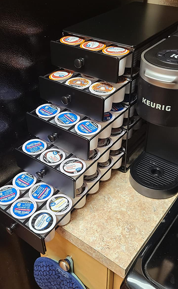 the same reviewer's after showing everything organized in the K-Cup holder