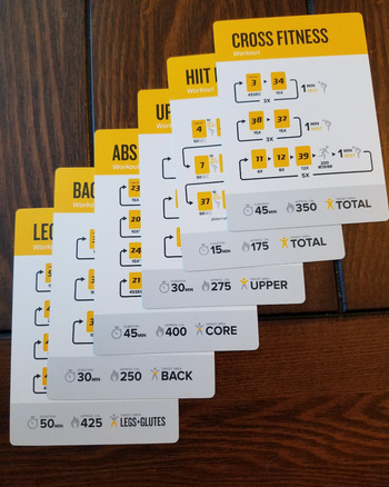different reviewer showing multiple cards and exercises