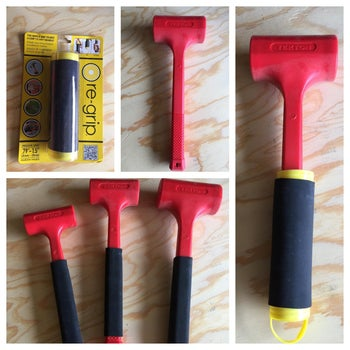the grips fitted to a reviewer's hammers
