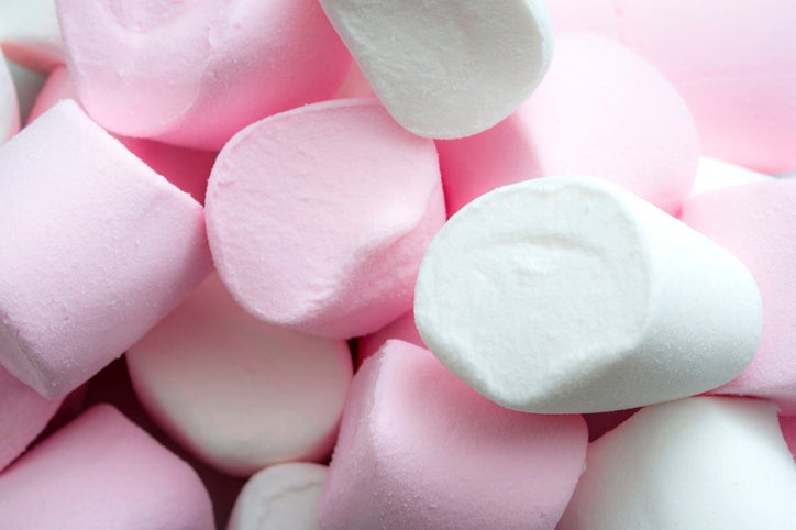 Large pink and white marshmallows