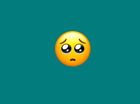 A very innocent, big-eyed emoji