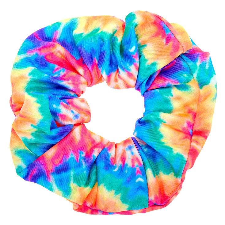 A tie-die scrunchie