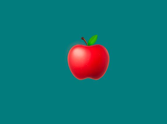 An apple emoji
