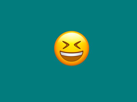 A laughing emoji