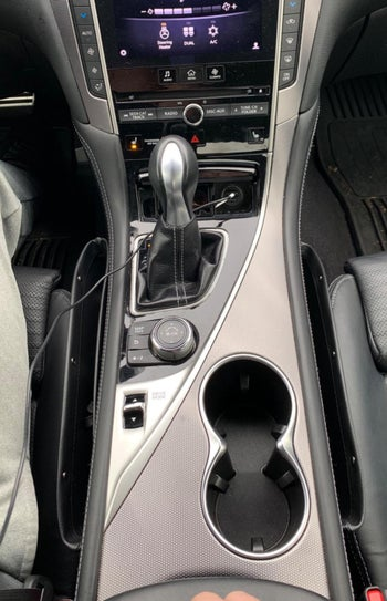 Reviewer photo of the gap filler in a car