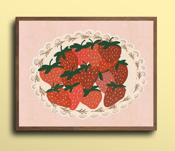 the strawberry print