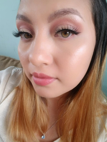 a reviewer photo of someone wearing the lashes