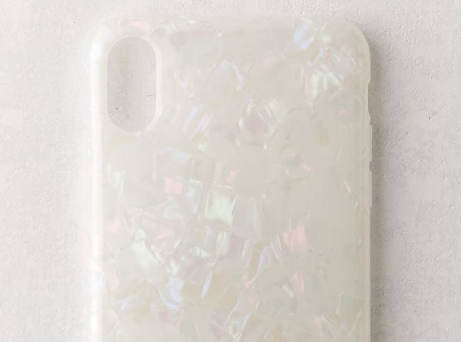 A shimmery phone case