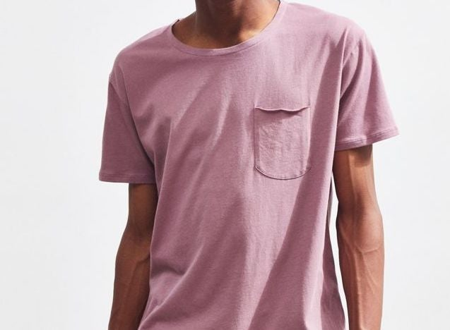 A short sleeve t-shirt with a front pocket