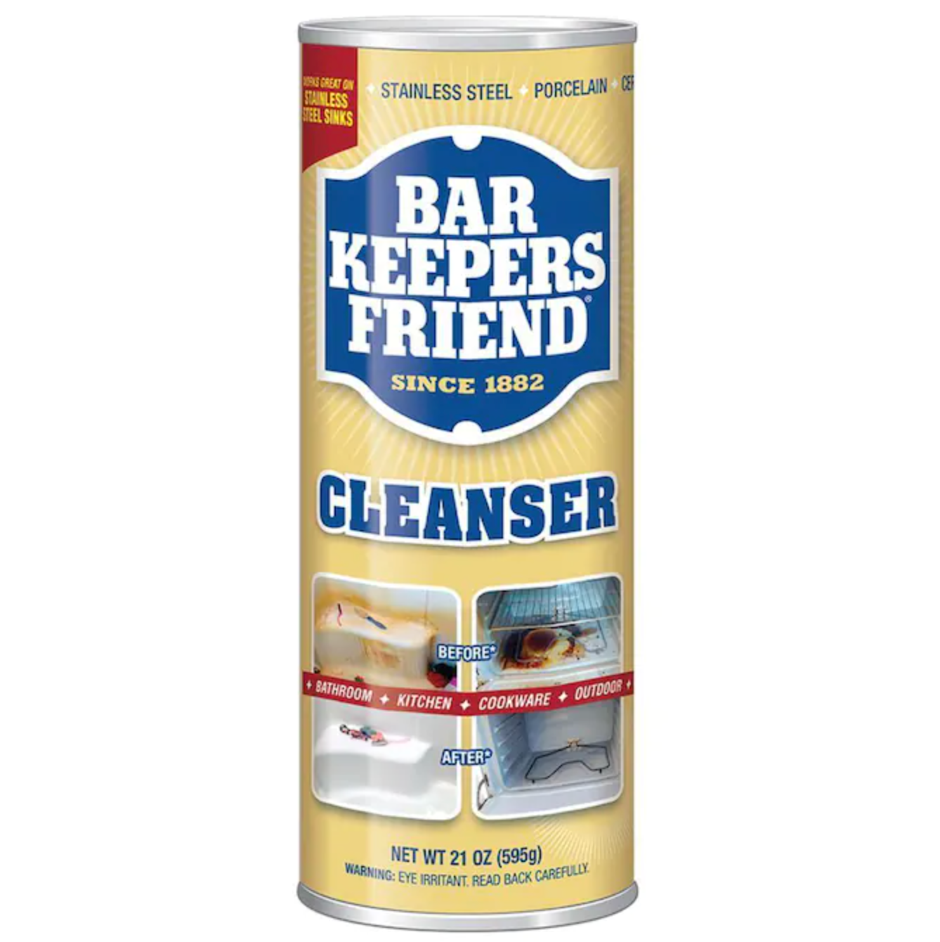 container of Bar Keeper's Friend cleanser
