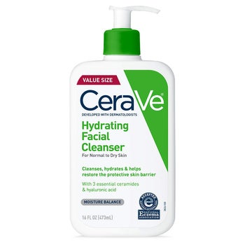 Bottle of CeraVe Hydrating Facial Cleanser