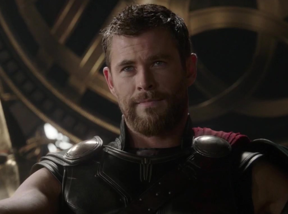 "Chris Hemsworth as Thor in the movie ""Thor: Ragnarok."""