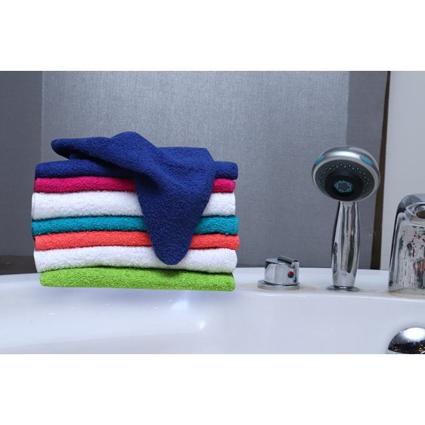 a few of the brightly colored wash cloths