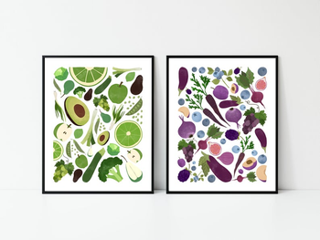 the green and purple prints