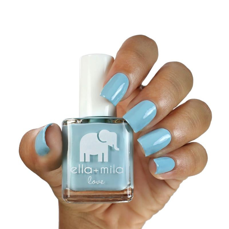 Beach resort blue nail polish.