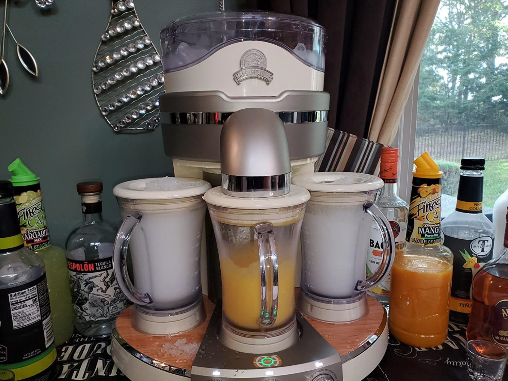 reviewer photo of frozen drinks being made inside the machine