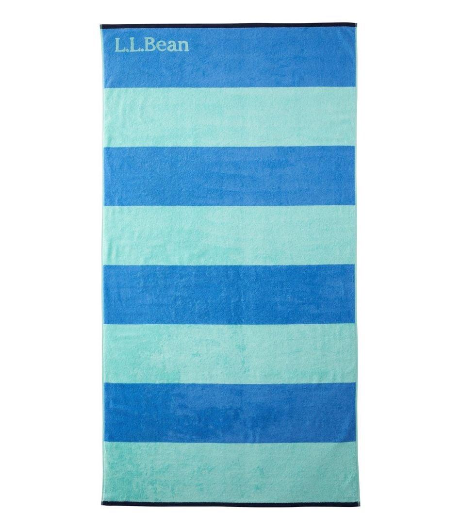 A striped beach towel