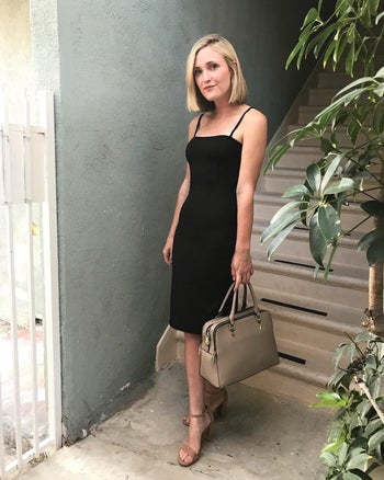 another reviewer in the form fitting dress