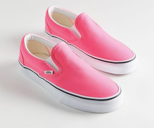 hot pink slip-on vans