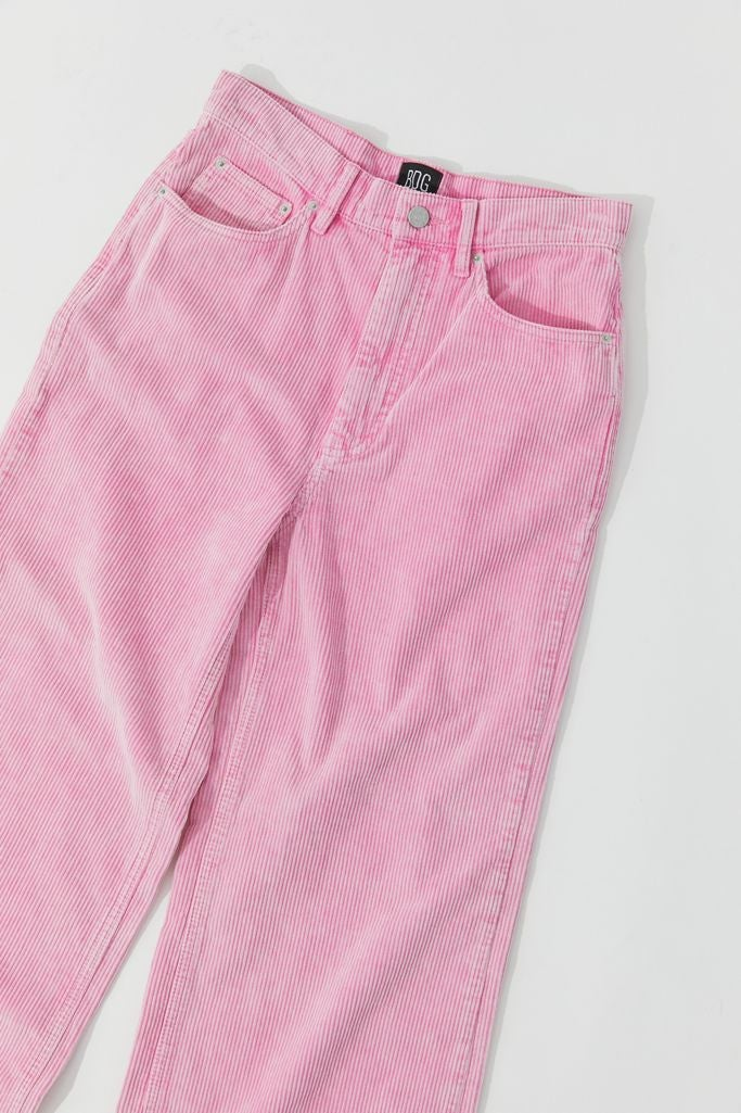 Light pink corduroy pants