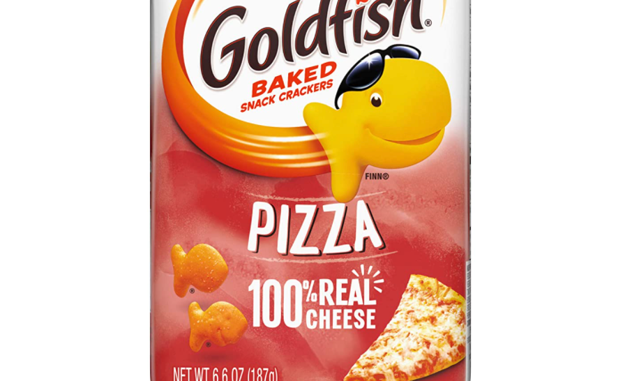 A bag of goldfish-shaped crackers