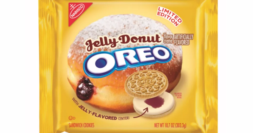 A bag of jelly donut-flavored oreos