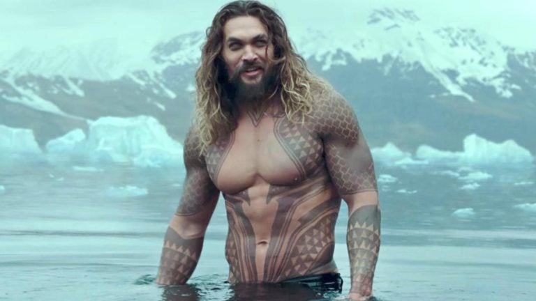 Aquaman rises from icy waters