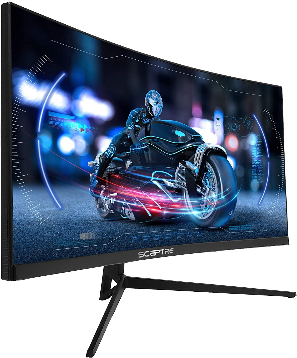 the curved monitor