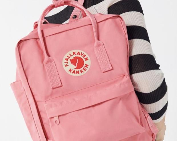 a pink kanken backpack