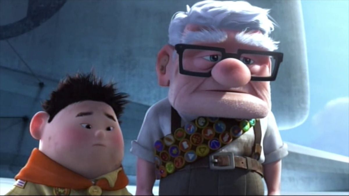 Russell and Carl frown