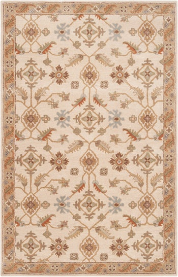 the beige floral area rug