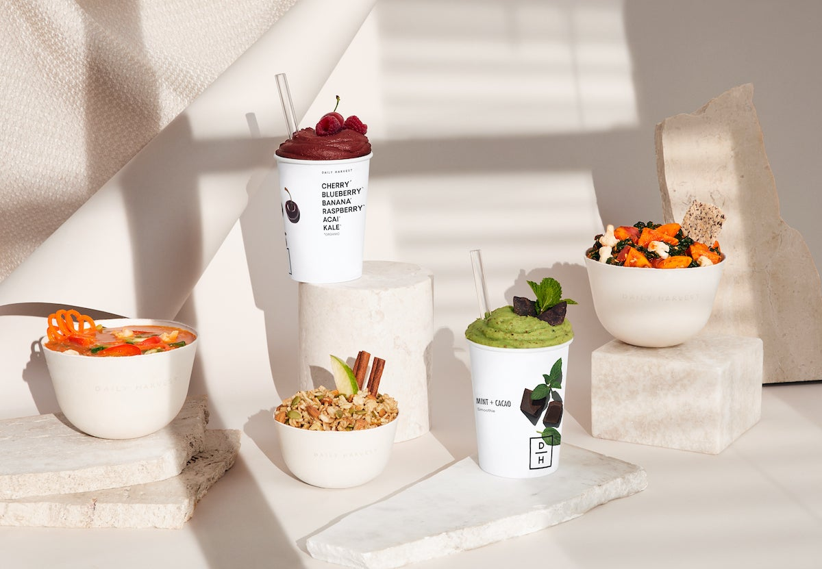 soups, harvest bowls, and smoothies