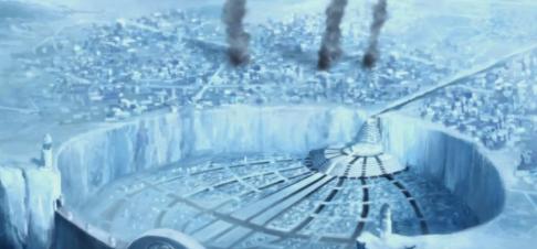 City made of ice
