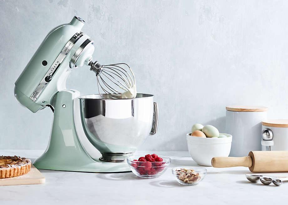 the pistachio-colored mixer
