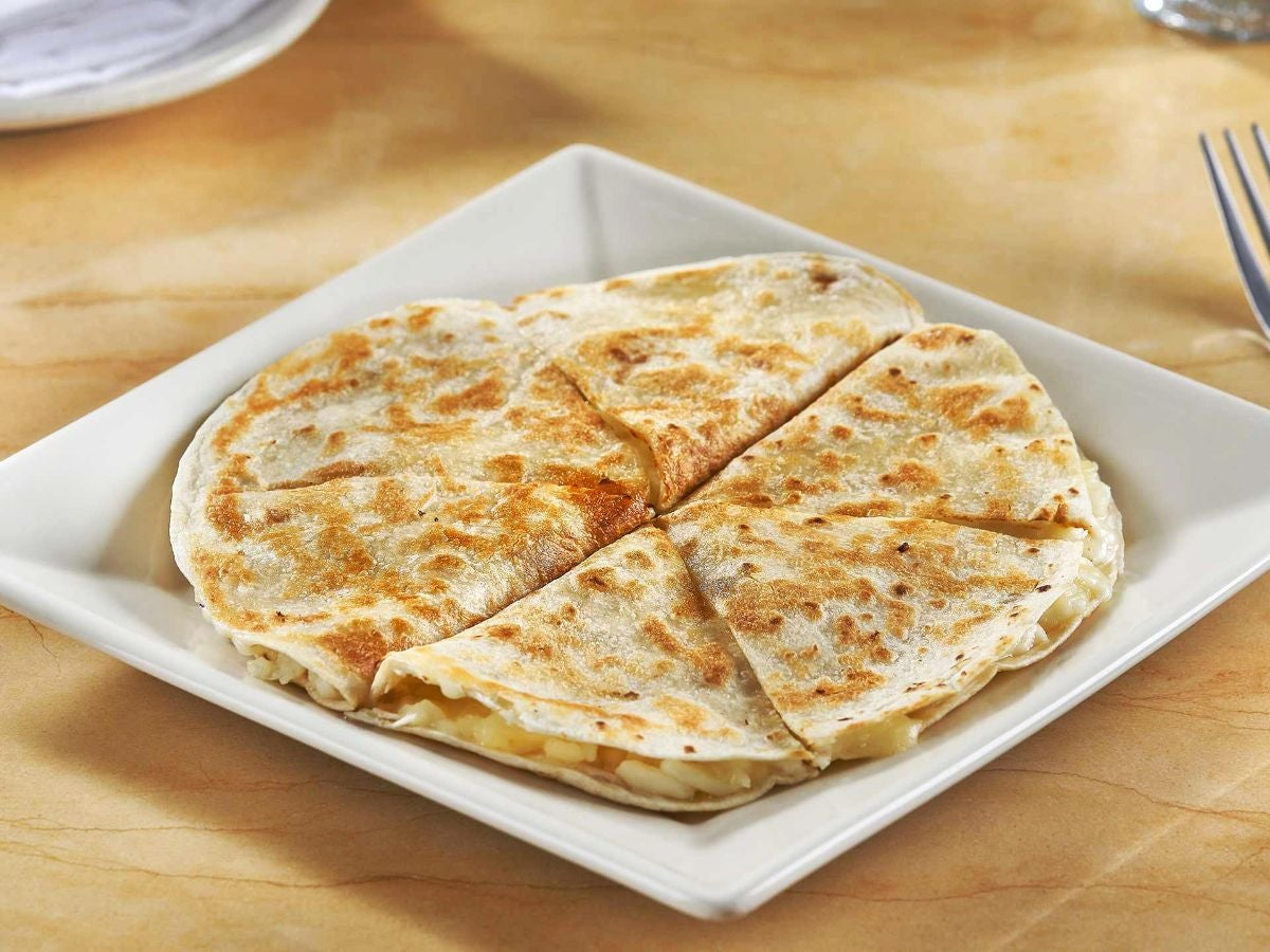 A cheese quesadille
