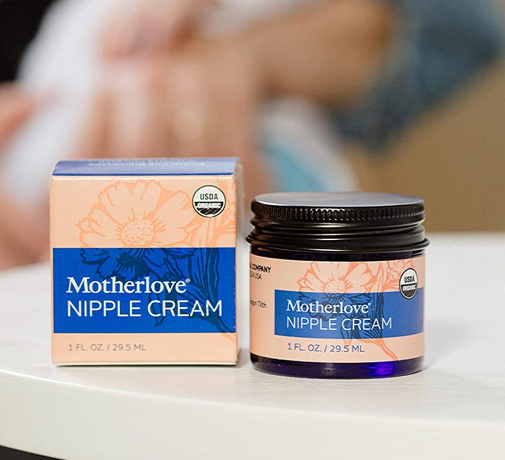 A one ounce jar of Motherlove nipple cream