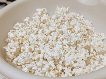 the popcorn from the popcorn popper
