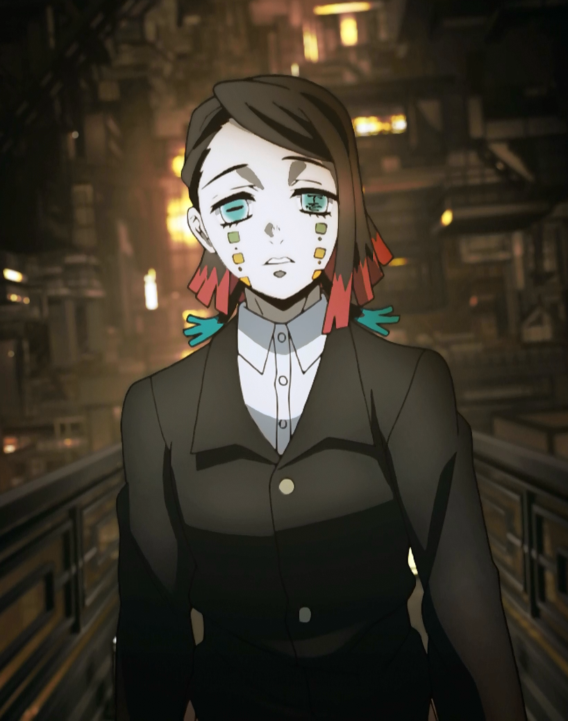 animated woman wearing a suit looking worried