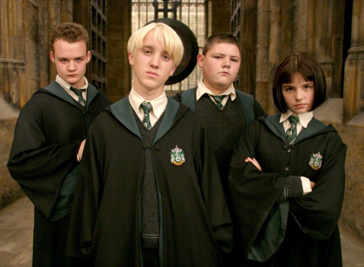 Draco and his friends glare