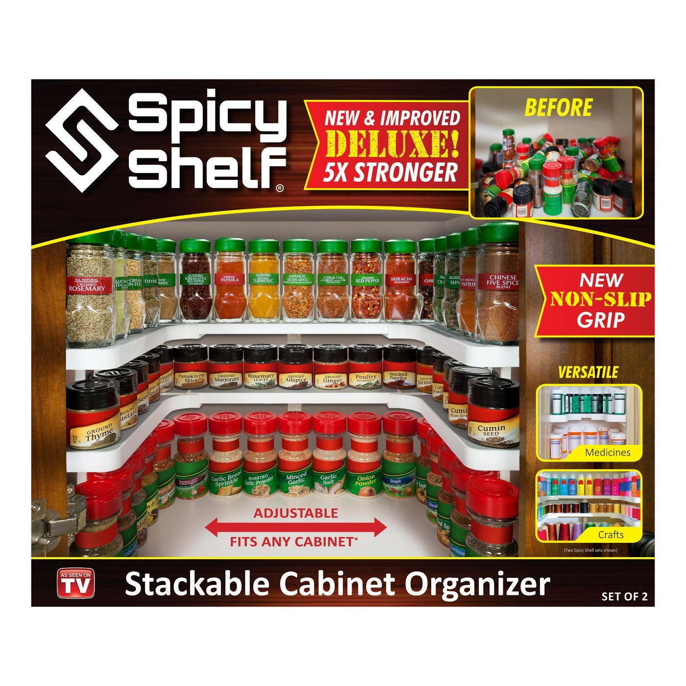 the three-row spicy shelf