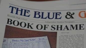 closeup of a newspaper