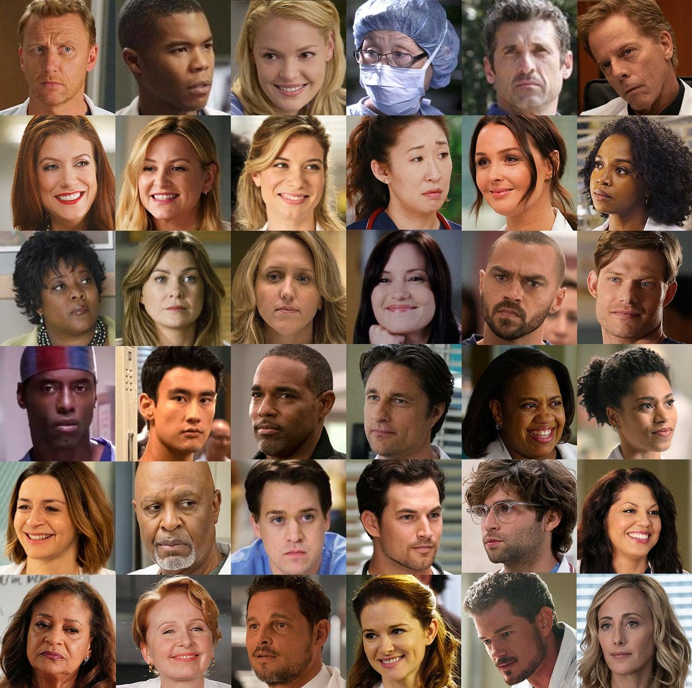 List cast greys anatomy 'Grey's Anatomy'