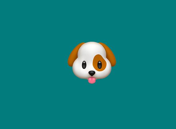 a dog emoji