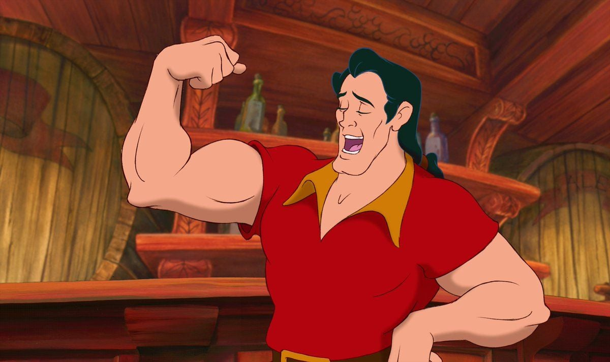 "Gaston from ""Beauty and the Beast"" being cringey"